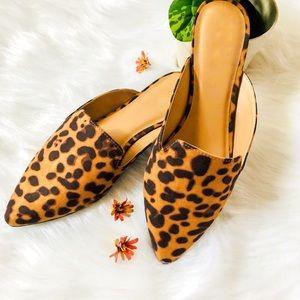 Shoes - 5⭐️LEOPARD MULES SLIP ON FLATS- Shoe